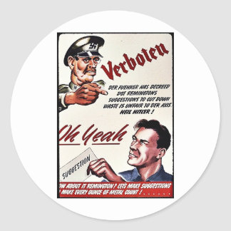 Verboten, Oh Yeah, Suggestion Round Stickers