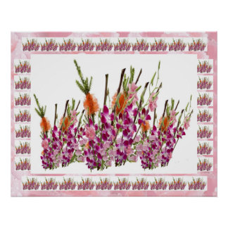 Vercordia Flower Collage -  Sensual Romance Posters