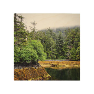 Verdant Views Wood Print