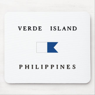 Verde Island Philippines Alpha Dive Flag Mouse Pads