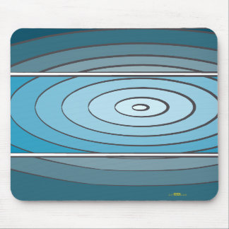 Verdes waves mouse pad