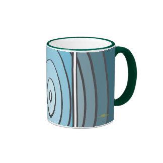 Verdes waves ringer mug