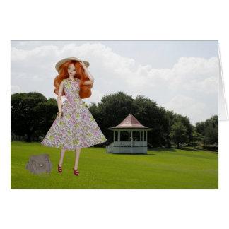 Verdi, Sam Houston Park Pavilion at Houston, TX Greeting Card
