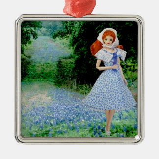 Verdi, Texas Hill Country Bluebonnets Christmas Ornament