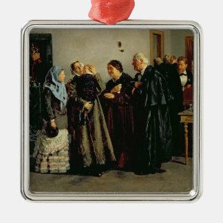 Verdict, 'Not Guilty', 1882 Silver-Colored Square Decoration