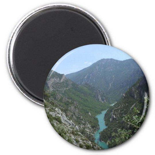 Verdon Gorge 6 Cm Round Magnet