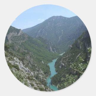 Verdon Gorge Classic Round Sticker