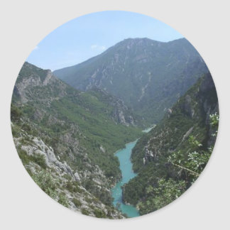 Verdon Gorge Round Sticker