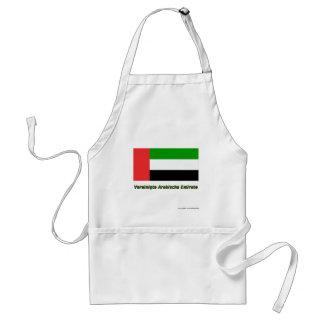 Vereinigte Arabische Emirate Flagge mit Namen Adult Apron
