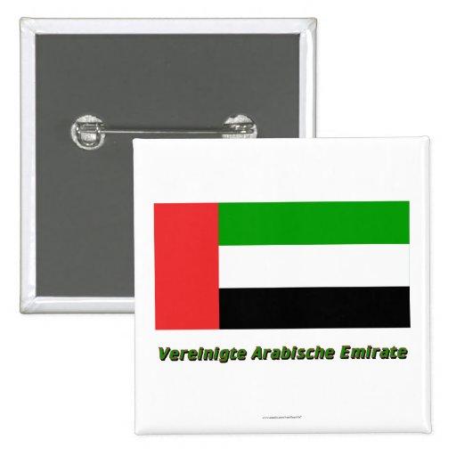 Vereinigte Arabische Emirate Flagge mit Namen Pin
