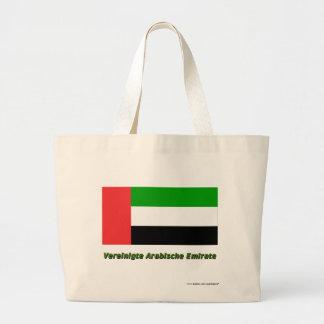 Vereinigte Arabische Emirate Flagge mit Namen Bags