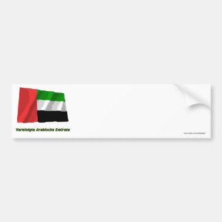 Vereinigte Arabische Emirate Flagge mit Namen Bumper Sticker
