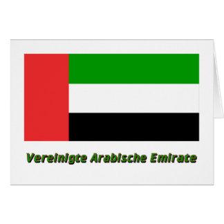 Vereinigte Arabische Emirate Flagge mit Namen Card