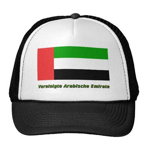 Vereinigte Arabische Emirate Flagge mit Namen Mesh Hat