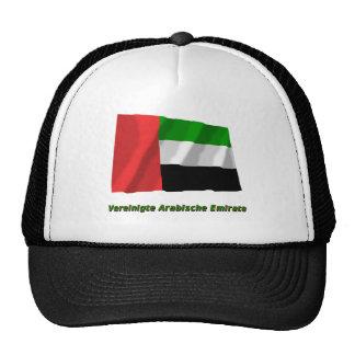 Vereinigte Arabische Emirate Flagge mit Namen Hats