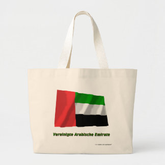 Vereinigte Arabische Emirate Flagge mit Namen Jumbo Tote Bag