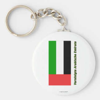 Vereinigte Arabische Emirate Flagge mit Namen Keychains