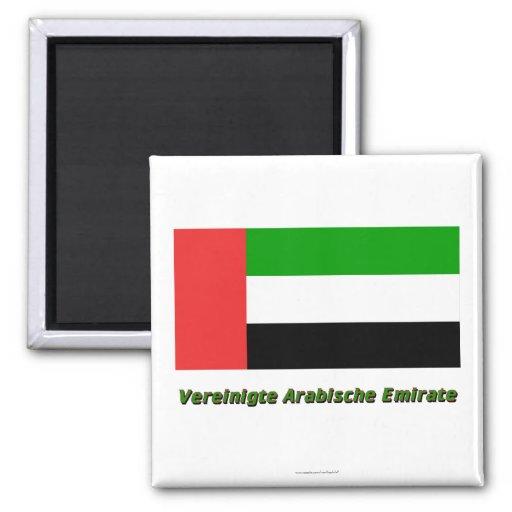 Vereinigte Arabische Emirate Flagge mit Namen Magnets