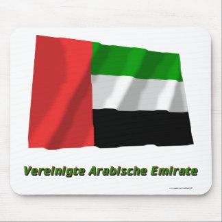 Vereinigte Arabische Emirate Flagge mit Namen Mousepad