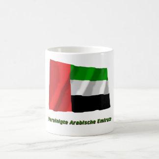 Vereinigte Arabische Emirate Flagge mit Namen Coffee Mug