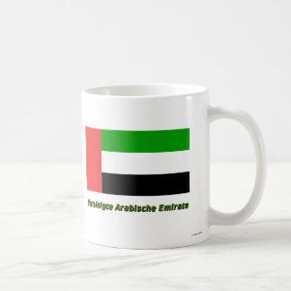 Vereinigte Arabische Emirate Flagge mit Namen Coffee Mugs