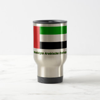 Vereinigte Arabische Emirate Flagge mit Namen Stainless Steel Travel Mug
