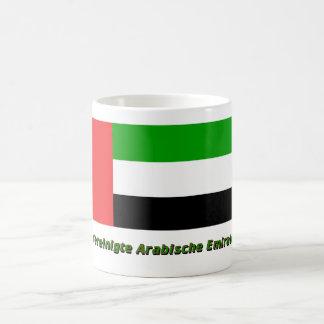 Vereinigte Arabische Emirate Flagge mit Namen Mugs
