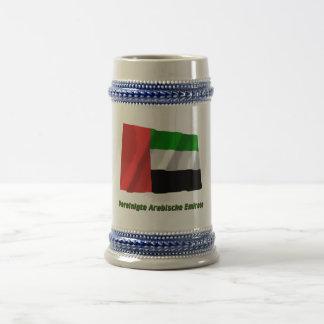 Vereinigte Arabische Emirate Flagge mit Namen Mug