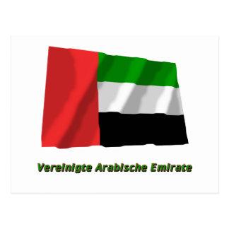 Vereinigte Arabische Emirate Flagge mit Namen Postcard