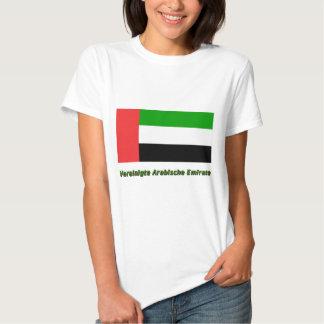 Vereinigte Arabische Emirate Flagge mit Namen T-shirt