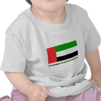 Vereinigte Arabische Emirate Flagge mit Namen Tee Shirts