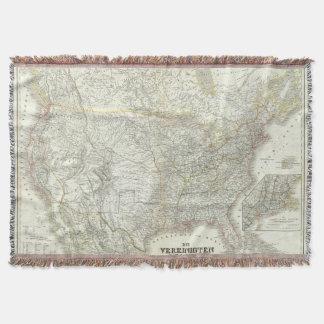 Vereinigten Staaten von N America - North US Throw Blanket