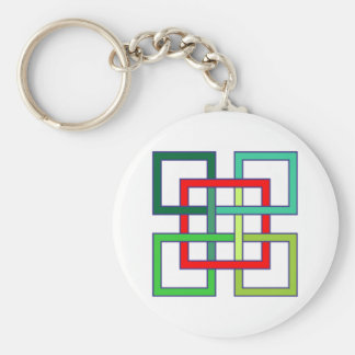 verflochtene Quadrate interwoven squares Schlüsselbänder