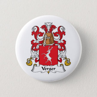 Verger Family Crest 6 Cm Round Badge