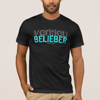 """VERIFIED BELIEBER"" Custom Destructed T-Shirt"