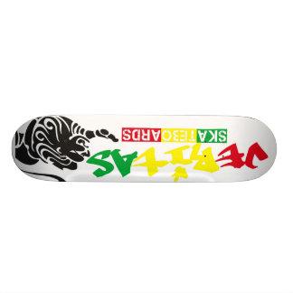 veritas-rasta-white skate board deck