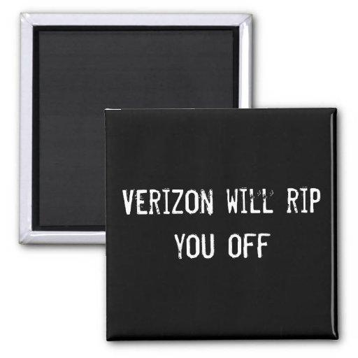 Verizon will rip you off fridge magnet