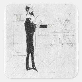 Verlaine teaching at the Institution Square Sticker