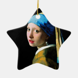 Vermeer - Girl with a Pearl Earring Christmas Ornament