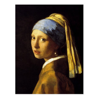 Vermeer Girl with a Pearl Earring Fine Art Post Card