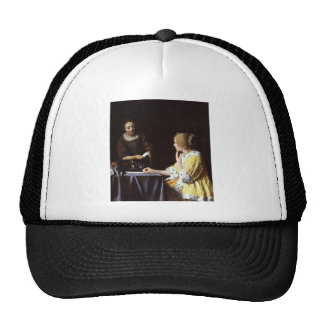 Vermeer - Mistress and Maid 1666-67 Mesh Hats