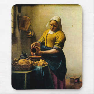 Vermeer s Maidservant Pouring Milk circa 1660 Mouse Pad