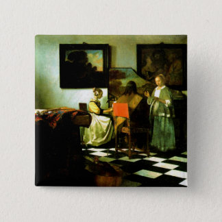 Vermeer: The Concert artwork 15 Cm Square Badge