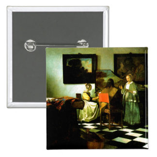 Vermeer: The Concert artwork 15 Cm Square Badge