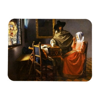 Vermeer The Glass of Wine Magnet