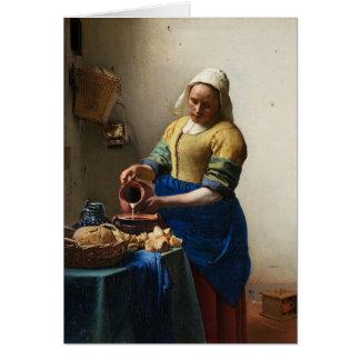 Vermeer The Milkmaid Greeting Card