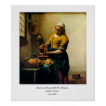 Vermeer's Maidservant Pouring Milk (circa 1660)