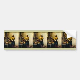 Vermeer's Maidservant Pouring Milk (circa 1660) Bumper Sticker