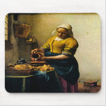Vermeer's Maidservant Pouring Milk (circa 1660) Mouse Mats