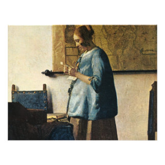 Vermeer's Woman in Blue Reading a Letter ca.1665 21.5 Cm X 28 Cm Flyer